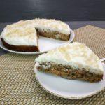 Сладкий песочный пирог с кабачками и лимоном