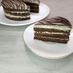 Песочный торт с шоколадным крем-муссом и карамелью