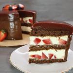 ПП торт без выпечки | Лёгкий торт с черешней, без глютена